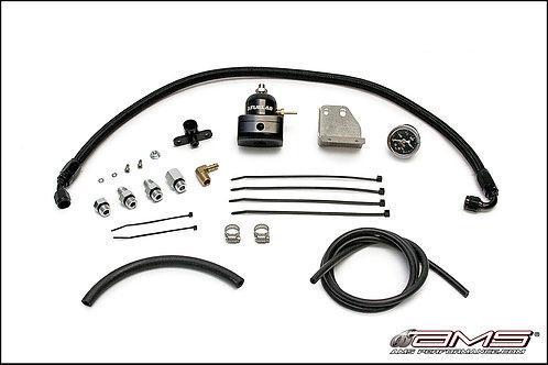 AMS Performance Evo X Adjustable FPR Kit - Black Regulator