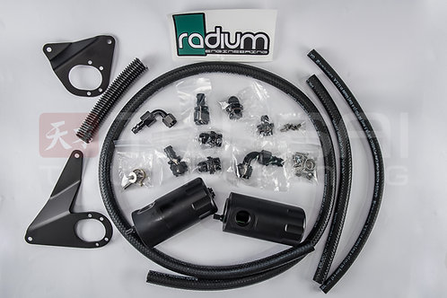 Radium Engineering Dual Catch Can Kit, EVO X, 2010-2016