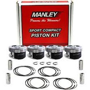Manley Evo 7/8/9 (6 Bolt 4G63T) 8.5:1 Dish Piston Set w/ Rings
