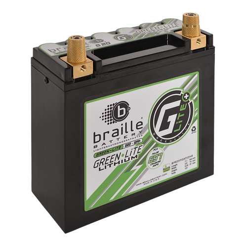 Braille Battery Green Lite Lithium Batteries G20
