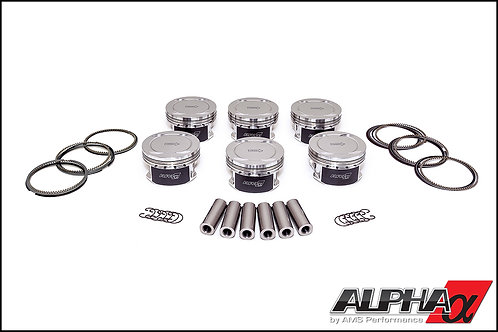 ALPHA Spec GT-R piston with pin and ring pack Grad1