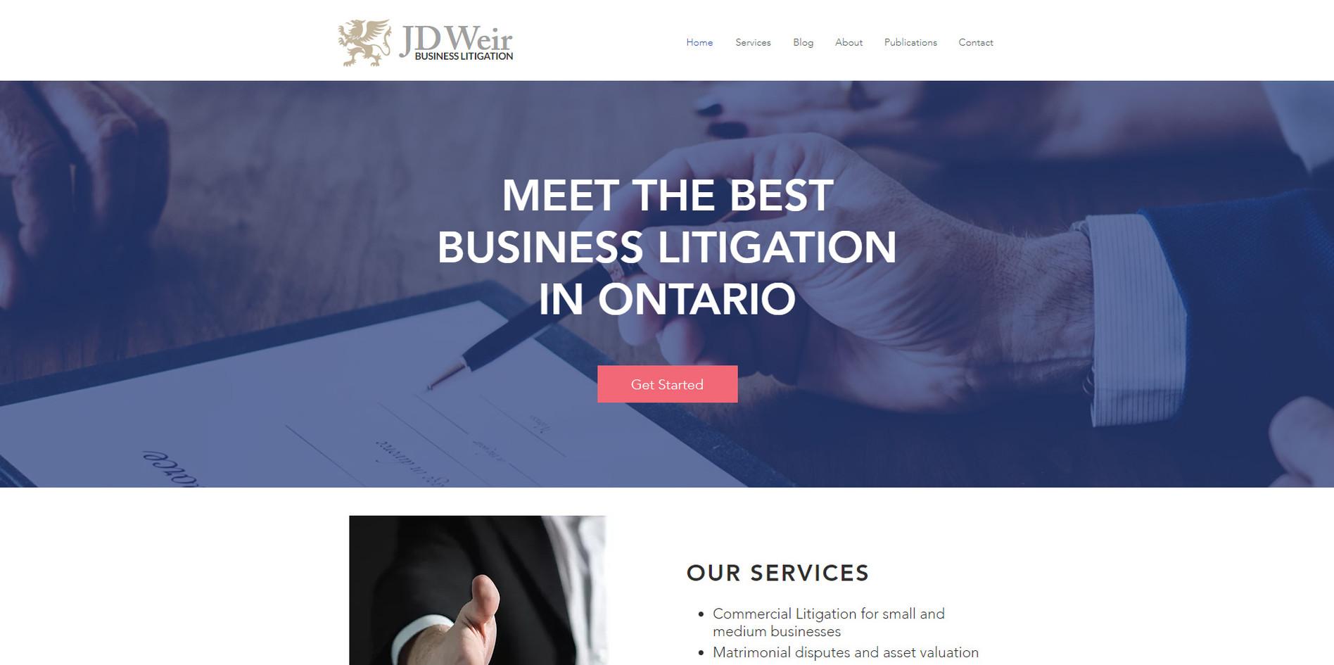 JD Weir Business Litigation Website