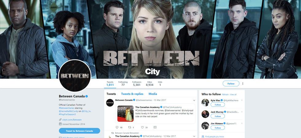 Between - Twitter Branding
