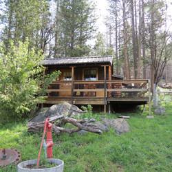 Cabin Overlooking Meadow