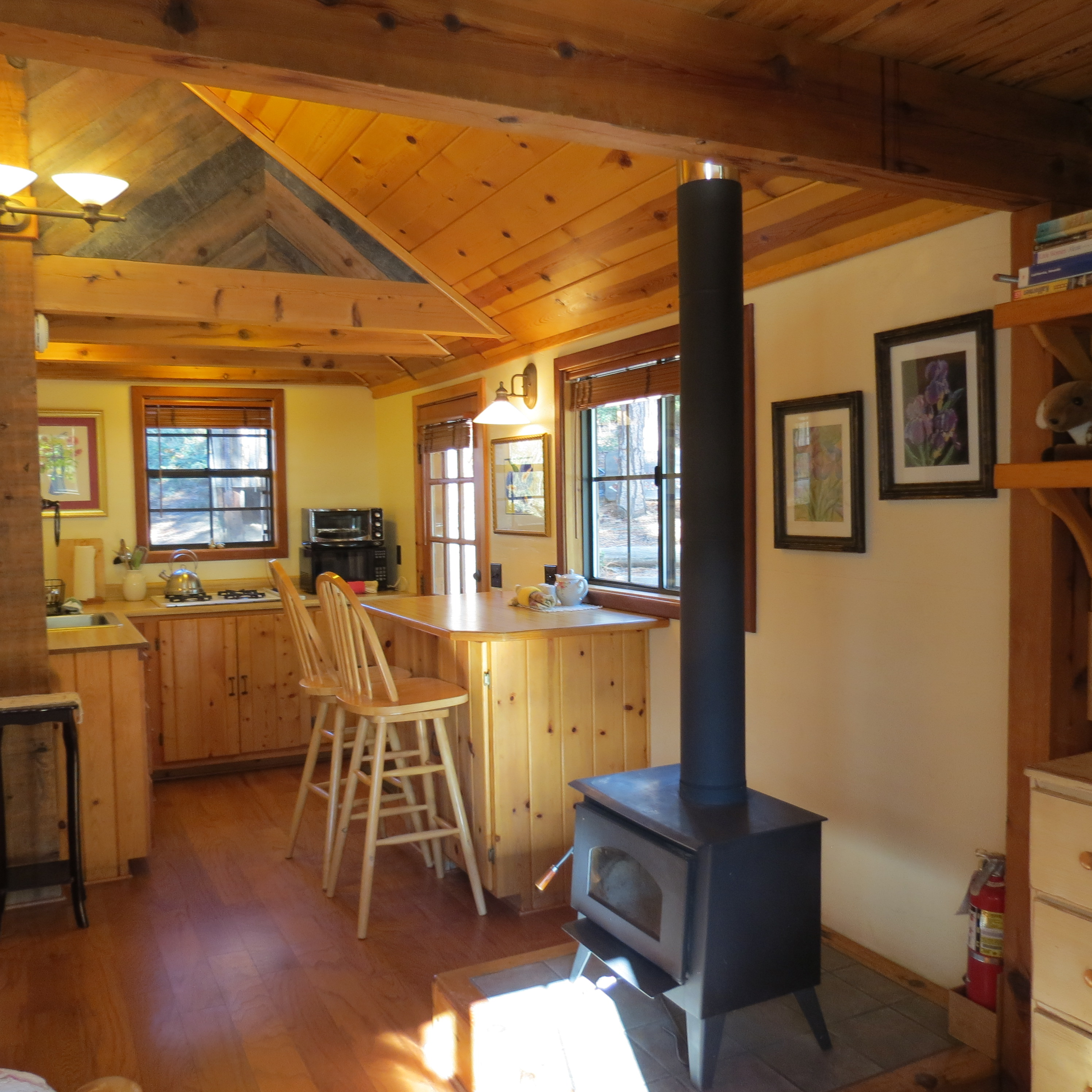 Wood Burning Stove & Kitchen