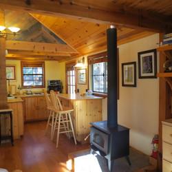Wood Burning Stove & Kitchen