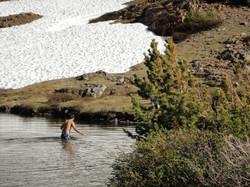 Frozen Lake Swimming