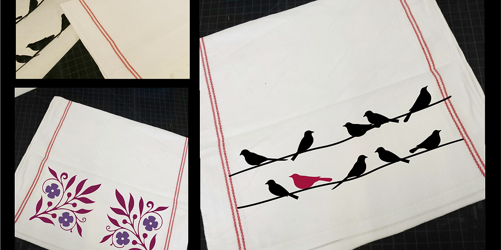 Beginning Fabric Painting with Stencils