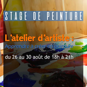 stage peinture adultes l'atelier d'artis