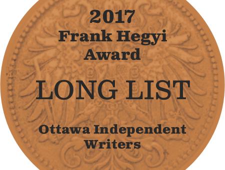 Frank Hegyi Award Long List at the Wakefield Writers Festival