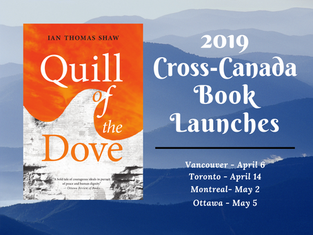 Cross-Canada Book Launches for Quill of the Dove