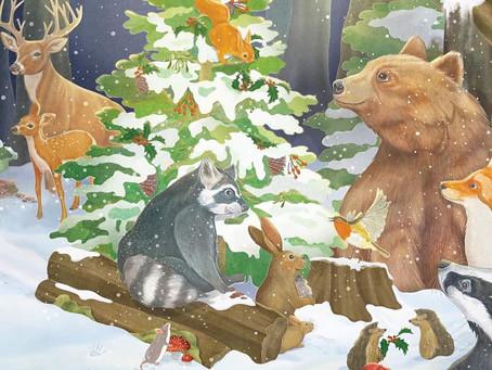 Buchveröffentlichung: Der kleine Waschbär wartet auf Weihnachten