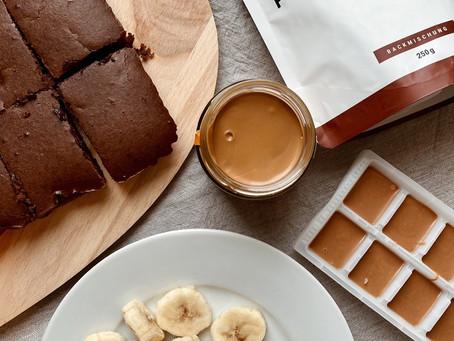 FANCY FOOD: Caramel brownies