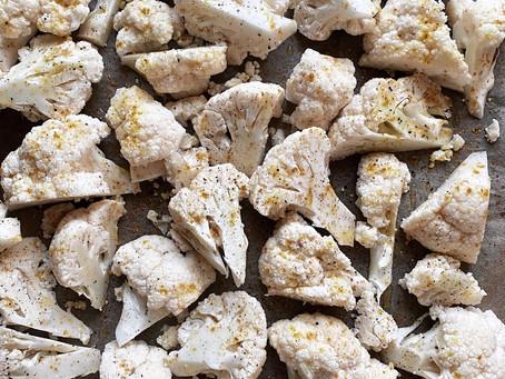 FANCY FOOD: cavolfiore con hummus di ceci e grano saraceno