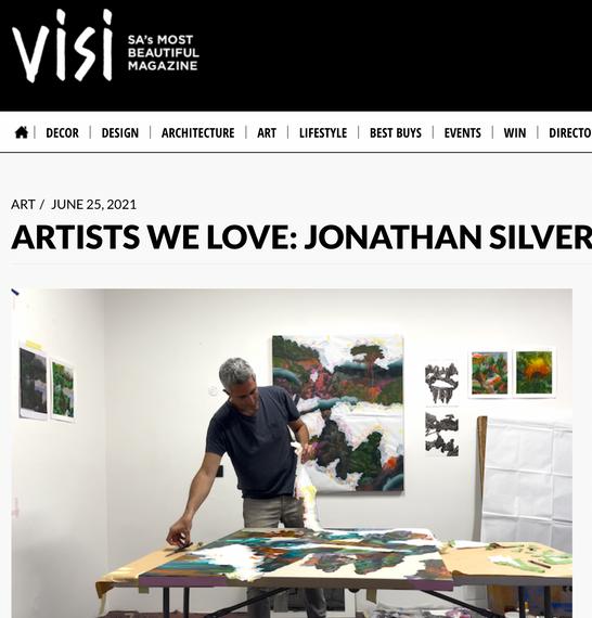 "VISI Magazine interview: ""ARTISTS WE LOVE: JONATHAN SILVERMAN"""