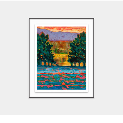 Electric Sunset in Sila / 2016 - Limited Edition Archival Fine Art Print