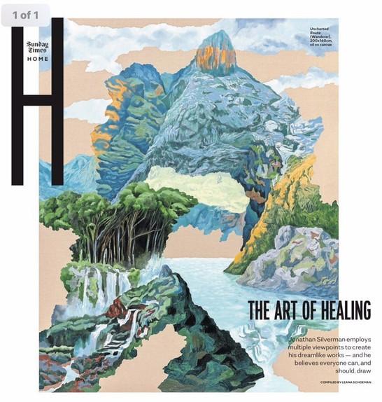 Jonathan Silverman combines multiple views of a landscape into a single artwork