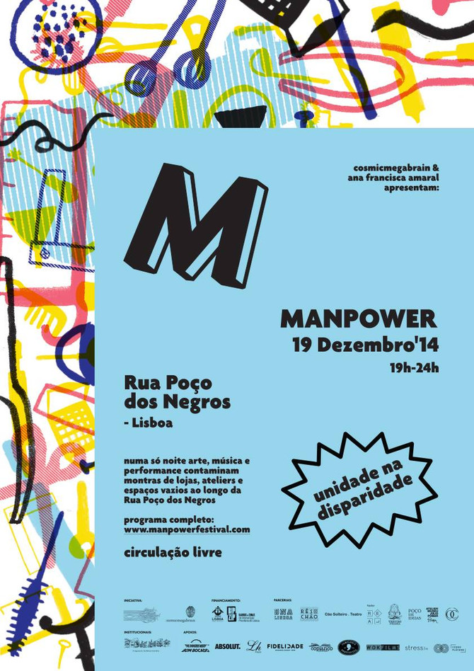 Lisbon cultural event:  MANPOWER 2014     >     19th December  curated by Cosmicmegabrain, Gilly