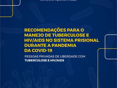 Depen e Ministério da Saúde publicam recomendações para tuberculose e HIV/Aids diante do coronavírus