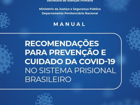 Depen lança Manual de Recomendações sobre coronavírus para sistema prisional