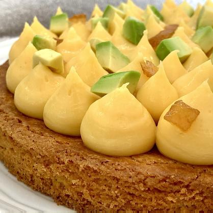 Tarte sablé breton, fruit de la passion, citron et avocat
