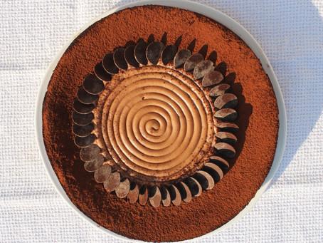 Mousse au chocolat cuite comme un gâteau et caramel de Christophe Felder