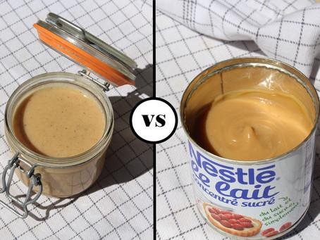 Confiture de lait, lait entier VS lait concentré