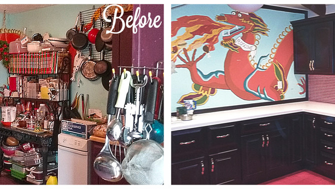 Red and Black Kitchen Update