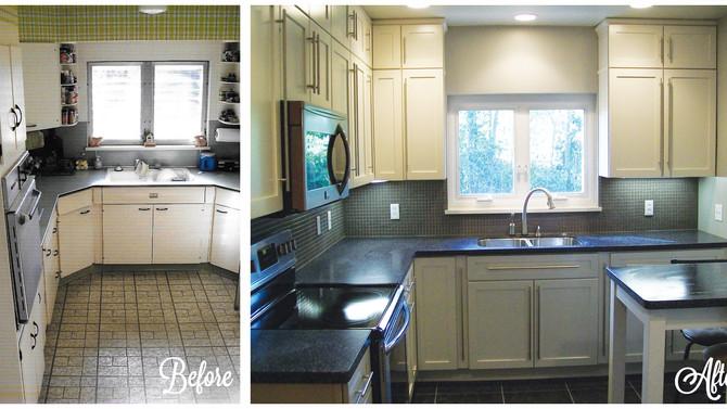 1920s Black & White Kitchen Renovation