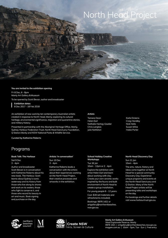 Invitation to The North Head Project exhibition