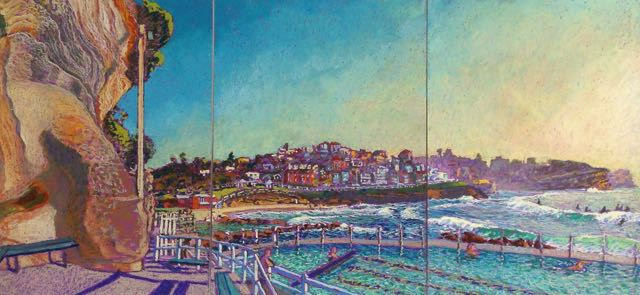 Kimberley Exhibition finishing: back drawing at Bronte