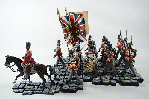 Scottish colour party with pipes and drums 42Regt. / 71st Regt. / 79th