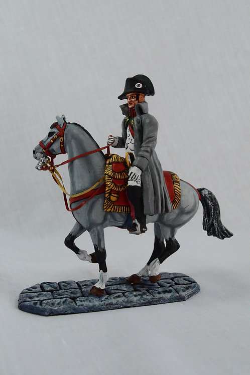 Napolean in greatcoat mounted, standing or walking