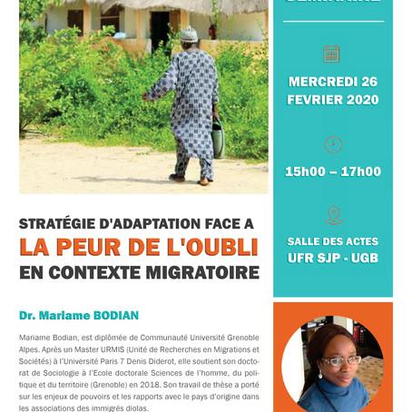 Cycle Séminaires sur Casamance