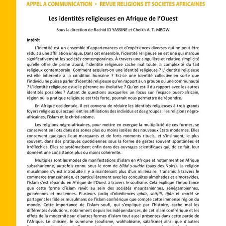 Revue RELSA | Appel à communications
