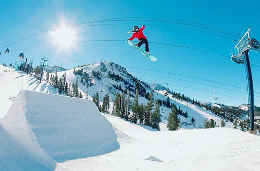 Mammoth Moutain Tail Grab