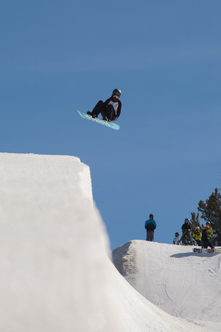 Front 360 at Mammoth Mountain halfpipe