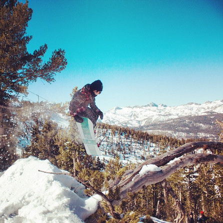 Backcountry tail grab