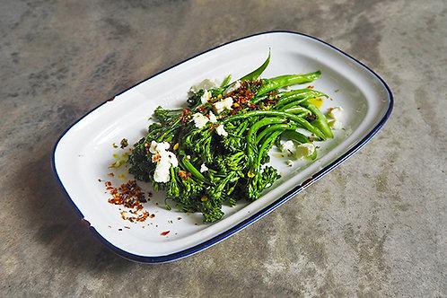 Charred Broccolini w/ Crumbled Feta