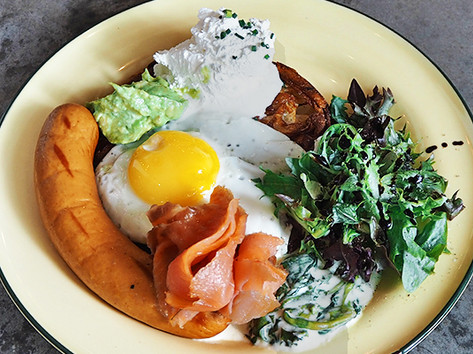 Breakfast Salmon & Rosti Sausage *