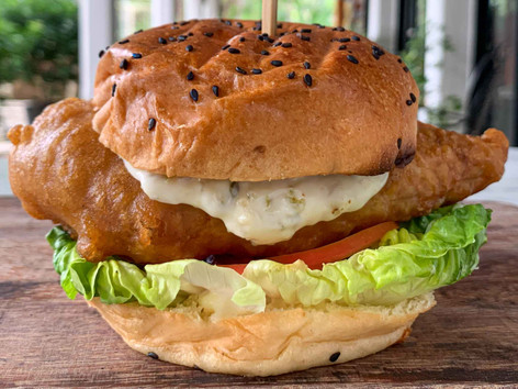 Grouper or Halibut Fish Burger