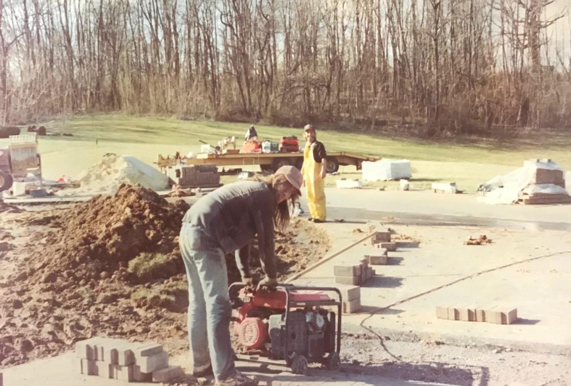 Starting a paver driveway job.