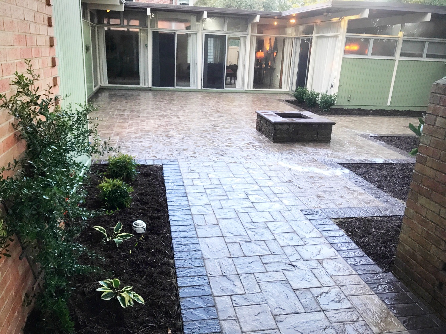 Paver walkway & Firepit