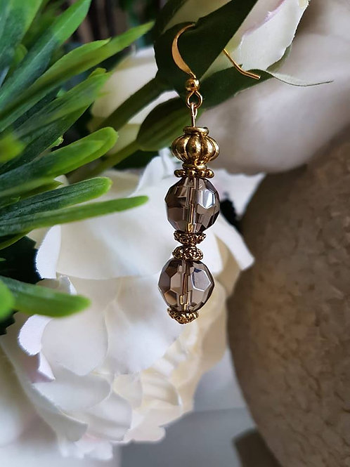 Double Crystal Brown Gold
