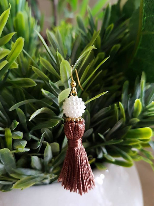 Pearl Brown Tassel