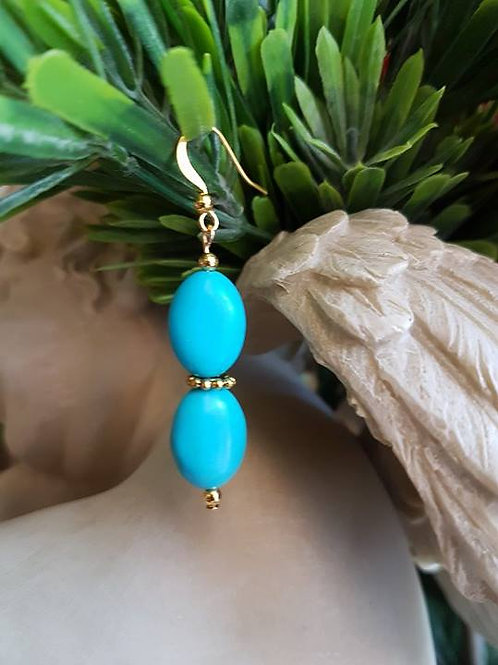 Double Turquoise Drops