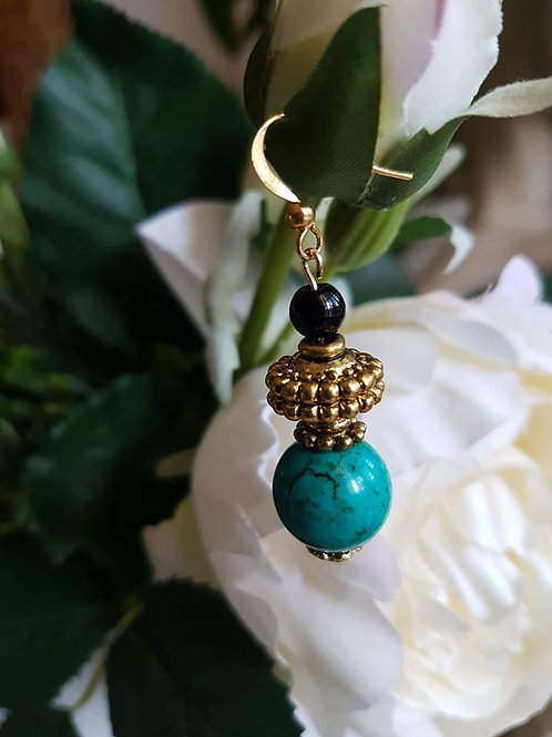Green Turquoise and Black