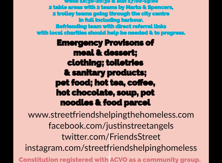 Street Friends Outreach & new services referrals success!!