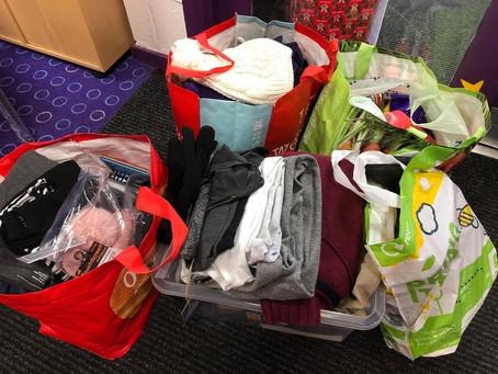 Kingswells community centre fantastic start to collection, we urgently need #communityspirit