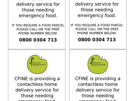 Many thanks to Cfine for providing this up dated flyer of details for home delivery